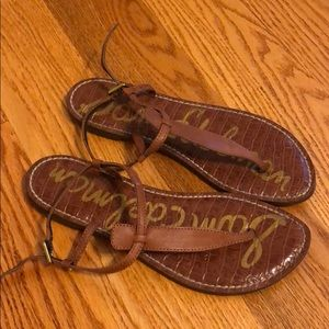 Sam Edelman brown leather sandals